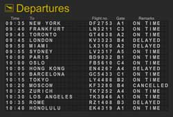airline flight numbers